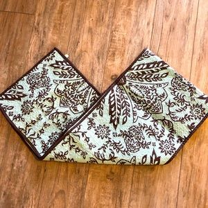 Blue and Brown Table Runner